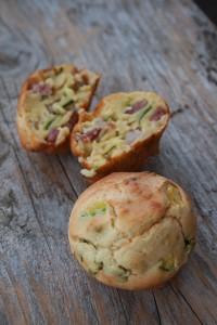muffin prosciutto cotto, zucchine, ricotta