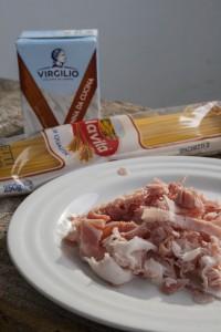 Spaghetti panna prosciutto cotto e porcini