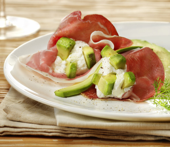 fagottini culatello e avocado